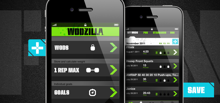 Wodzilla Crossfit App iPhone